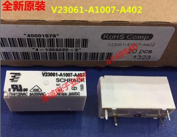 HOT NEW relay V23061-A1007-A402 24VDC V23061-A1007-A402-24VDC V23061A1007A402 24VDC DC24V 24V 8A DIP4