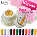 Excellent Ink 6 Pcs Kit Lvmay Brands Painting Gel nail polish uv nail paint gel  Well Packed  Beautiful Bright Colors