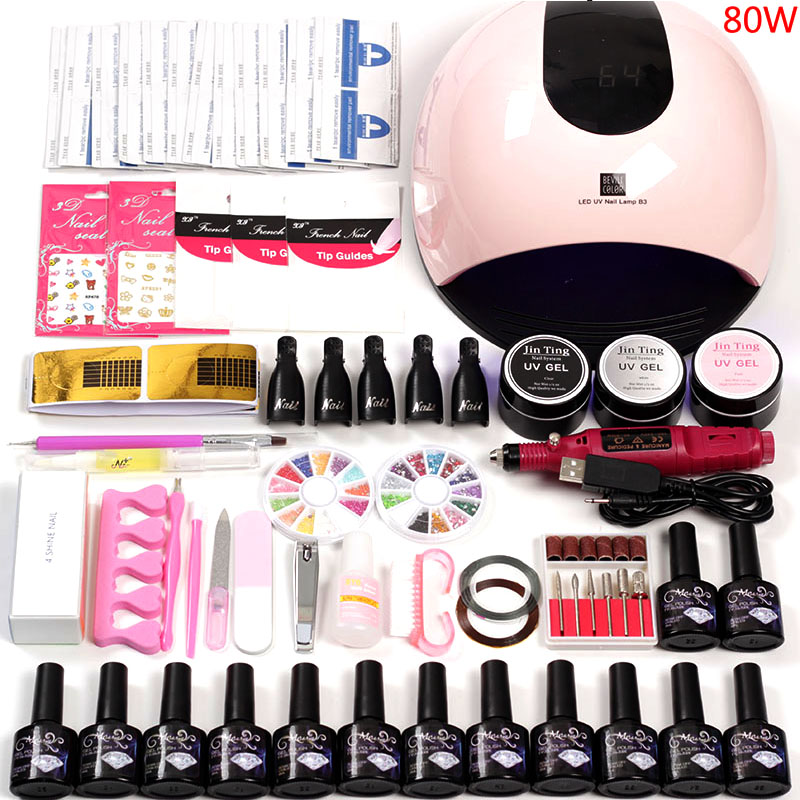 Manicure Set with UV Lamp Acrylic Nail Kit UV LED Lamp for Nail Art Sets 12 Color UV Gel Nail Polish Set Tools for Manicure KitManicure Set with UV Lamp Acrylic Nail Kit UV LED Lamp for Nail Art Sets 12 Color UV Gel Nail Polish Set Tools for Manicure Kit