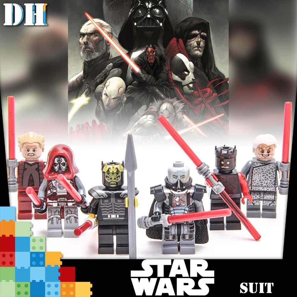 สำหรับ Star Wars Sith Trooper Grievous Han Solo Maz Anakin Darth Vader Yoda Starwars อาคารบล็อกของเล่น