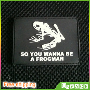 Frogman (Black) DIY Military PVC Badge Velcro patches personality Rubber  Velcro for Clothes Jackets Backpacks Hats PVC chapter 9a3b8c573f6