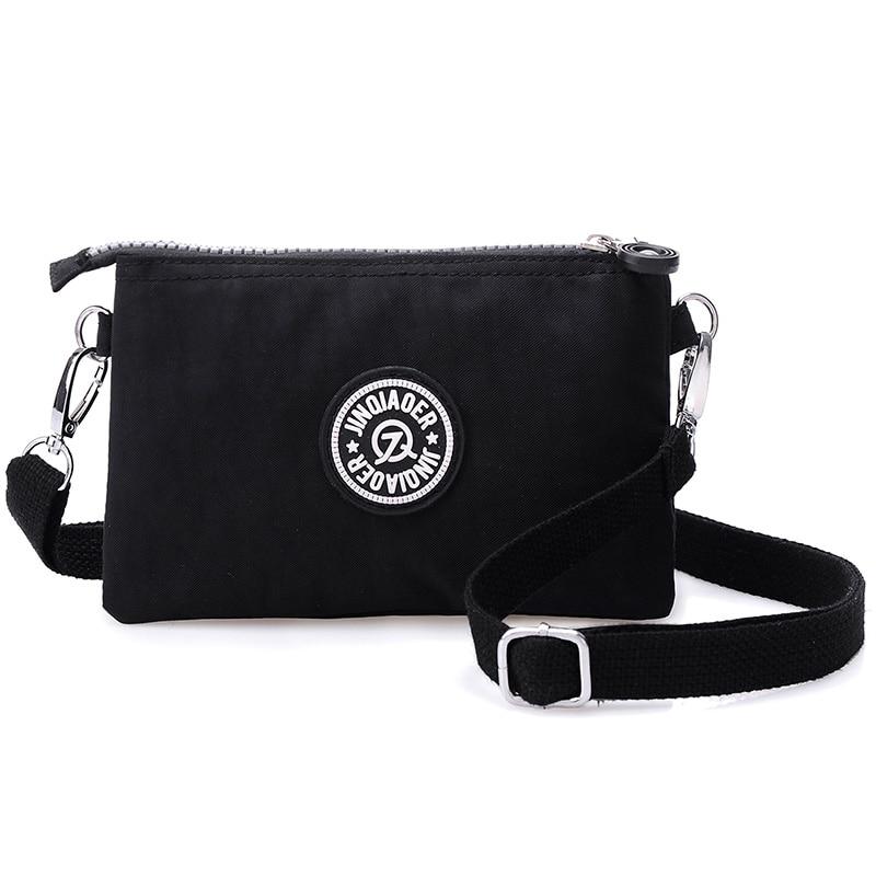 Women Messenger Bags Nylon Female Coin Purse Zipper Mobile Phone Crossbody Bag Shoulder Wallet Clutch Handbag Wristlets