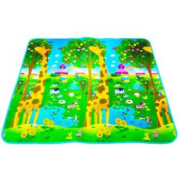 200*180cm Baby Crawling Mat Baby Play Mat Fruit Letters Farm Baby Carpet Developing Mat for Children Baby Cushion Toy Game Pad dinosaur world jurassic park scene play mat kids