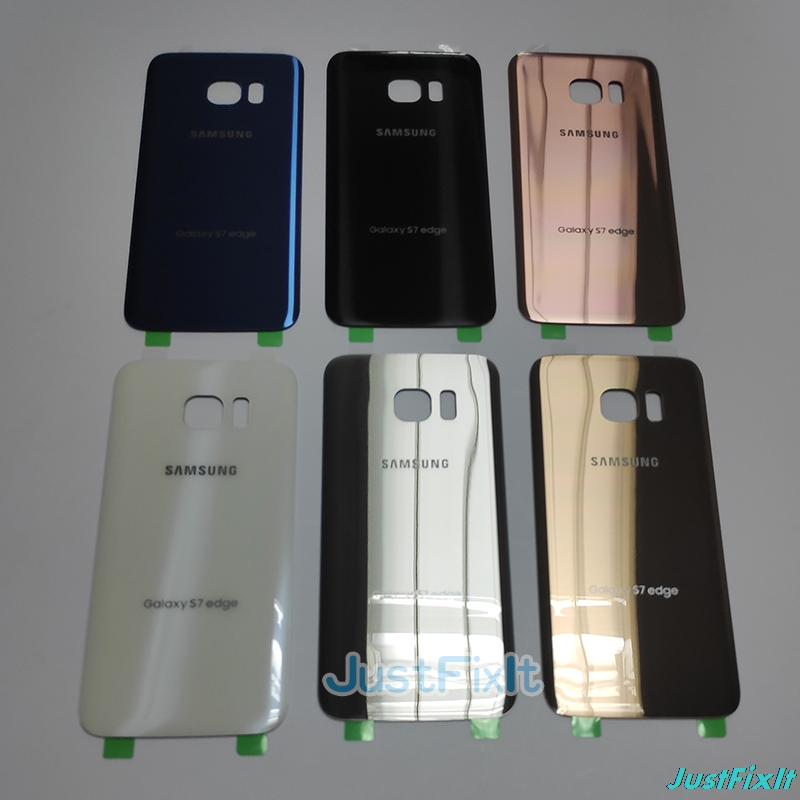 For SAMSUNG Galaxy S7 EDGE G935F Back Battery Cover Door Rear Glass Housing Case Replace Battery Cover