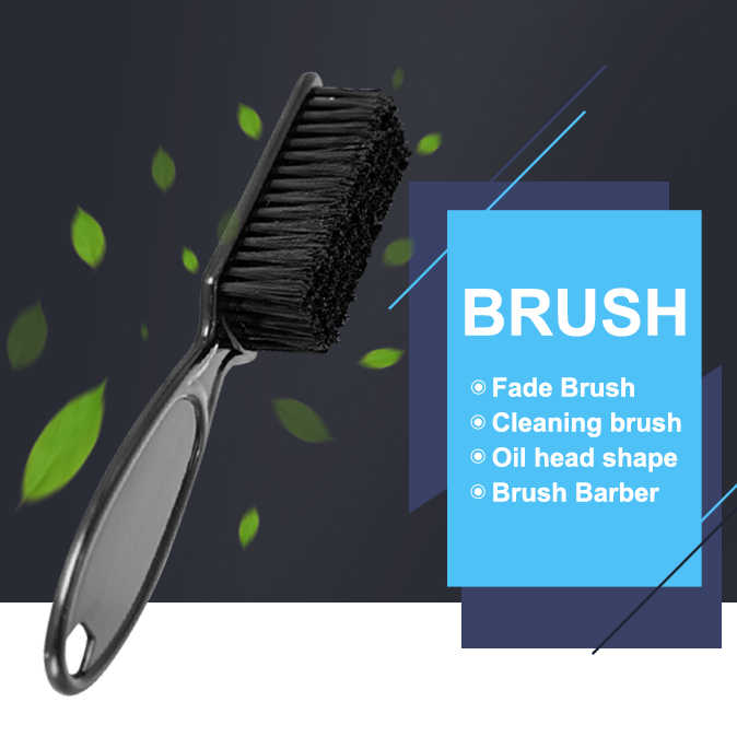 Fade Brush Comb Scissors Cleaning Brush Barber Shop Skin Fade Vintage Oil Head Shape Carving Cleaning Brush