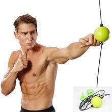 Боксерский мяч тренировка скорости рефлексов оборудование ММА Санда рука глаз реакции упражнения Муай боевой мяч фитнес двойной конец мешок