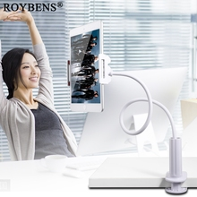 Roybens Lightweight Flexible Desktop Tablet Stand Phone Holder For iPad Mini Air Samsung Lazy Long Arm Bed PC Support Mount