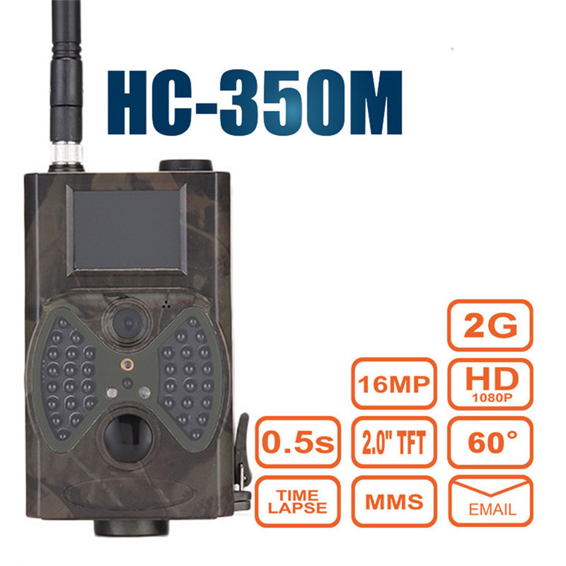 Gsm Mms Hunter Wild Hunting Camera Trail 60 Degrees Night Vision Trap Infrared Camcorder HC 350M Forest Animal Camera 2g wireless outdoor mms gsm gprs hunting camera 12mp 1080p motion detector for animal wireless outdoor mms gsm gprs hunter camera