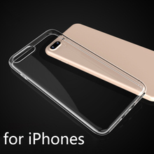 UltraThin Clear Transparent Soft Silicone TPU back cover case for iPhone 6 6s 7 plus 4 5s 5c 5 SE iphone7 cases Coque