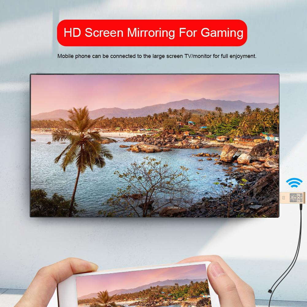 2.4ghz Dual System HDMI HD Mobile Phone Computer Wireless Mirroring Screen Device Support ios&Android Wired/Wireless Connection