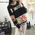 New Autumn Winter Preppy Fashion Korean Sweet Cute Women Sweater Long Sleeve O Neck Crochet Pattern Knitted Nylon Tops C68262H