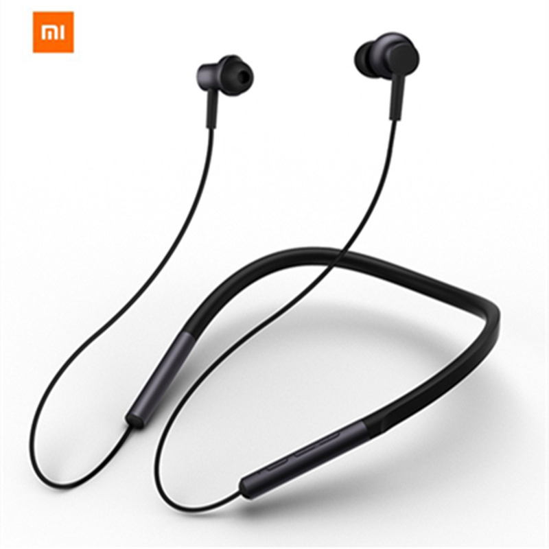 Original Xiaomi Bluetooth Collar Earphone Sport Wireless Bluetooth Headset with Mic Play Dual Dynamic Earbuds Headset Headphone цены