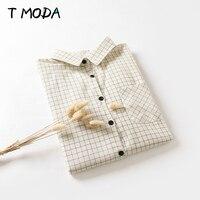 Blusas Femininas 2015 New Fashion Women S Autumn Winter Cotton Long Sleeve Plaid Shirts Slim Lady