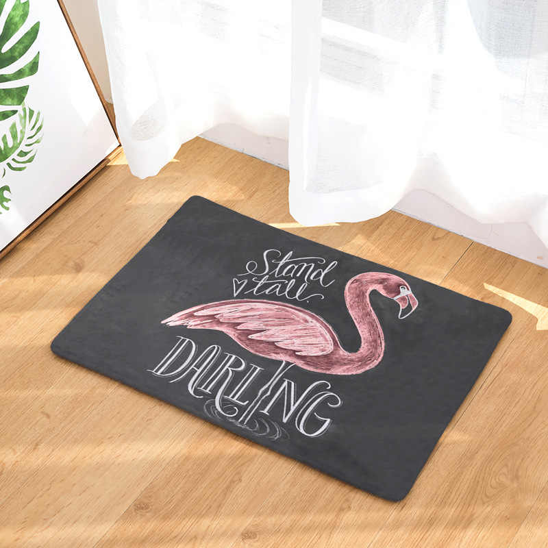 CAMMITEVER Pink Flamingo Children Bedroom Rugs Comfort Mats Kitchen Floor  Mats Standing Mat for Standup Desks, Kitchens