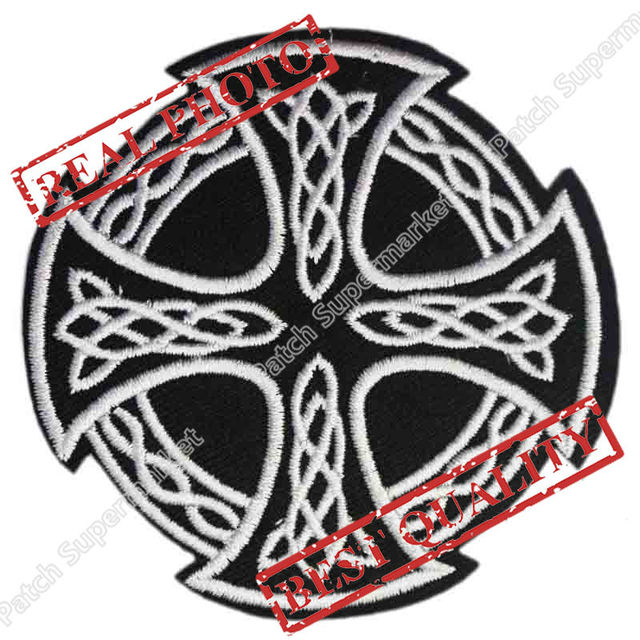 3 Black White Celtic Cross Irish Pride Tattoo Pagan Biker Vest
