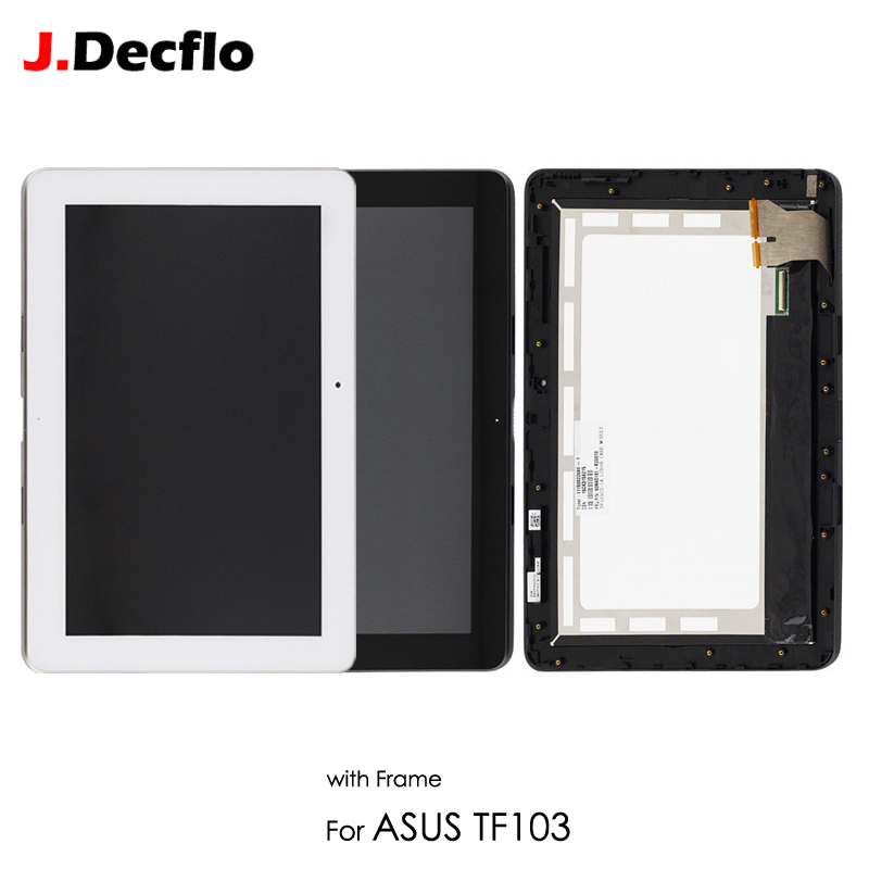 LCD Display For ASUS Transformer Pad TF103 TF103CG K018 LCD Touch Screen Digitizer Sensor Matrix Panel Assembly With Frame Parts new 8 inch for asus memo pad 8 me180 me180a digitizer touch screen with lcd display assembly frame