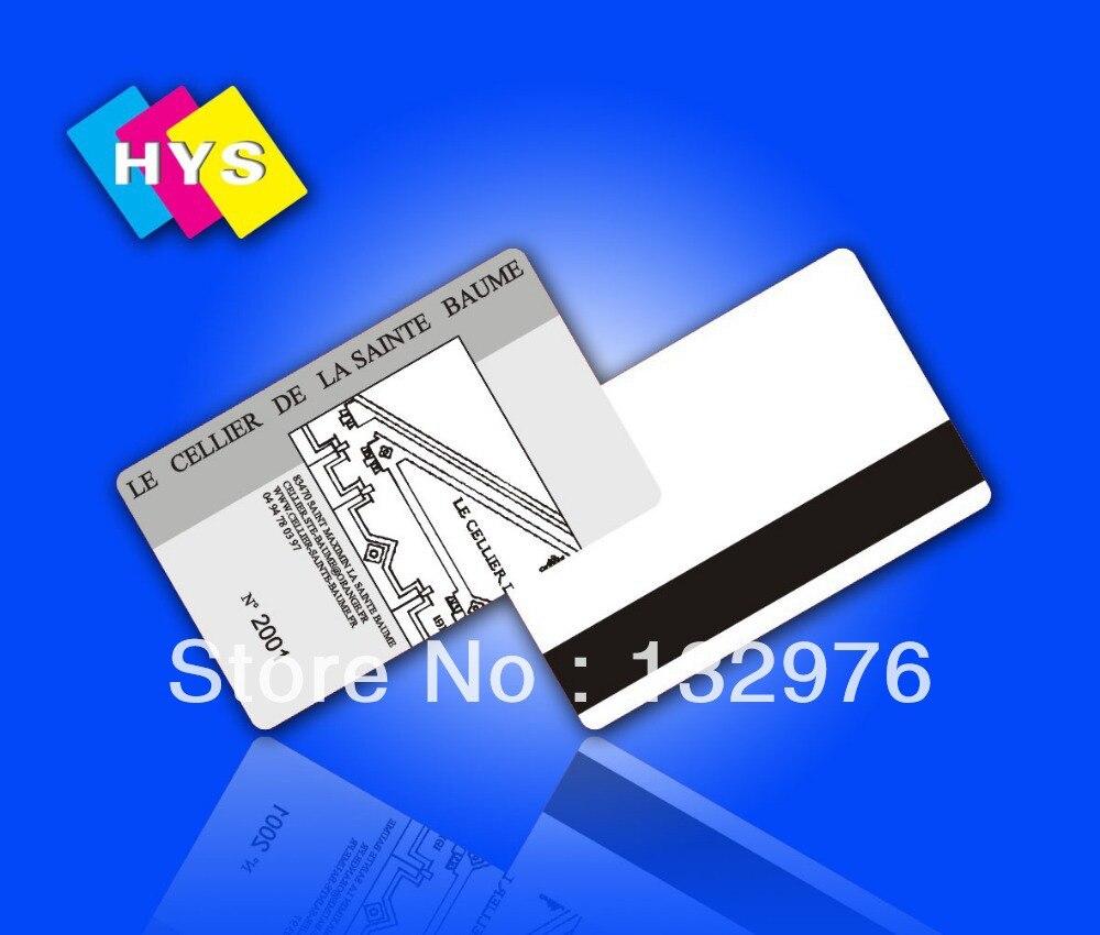 Tarjeta de rayas magnéticas e impresión de tarjetas de plástico