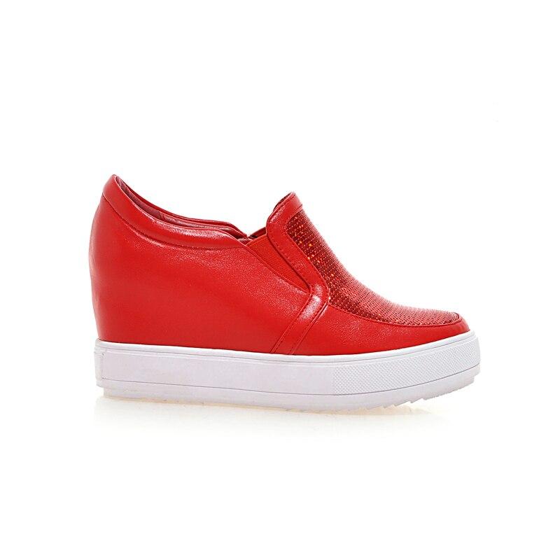 Noir Ribetrini Sneaker rouge Qualité Marque Doux École Noir Femme Femmes Chaussures Gros De blanc 2019 Mode Rouge Nouvelle Haute rOg8rq