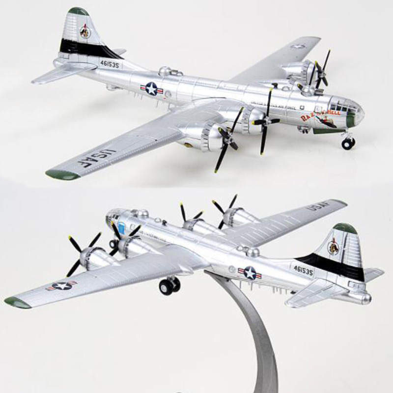 1/144 scale Boeing B-29 B29 strategic Bomber WWII aircraft airplane models  adult children toys display show collections