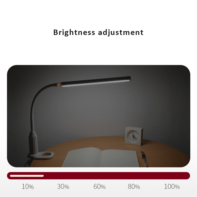 LED Mini Clip Light Clamp USB Charging Bendable Eye Protect Adjustable For Desk Hot Sale in Book Lights from Lights Lighting