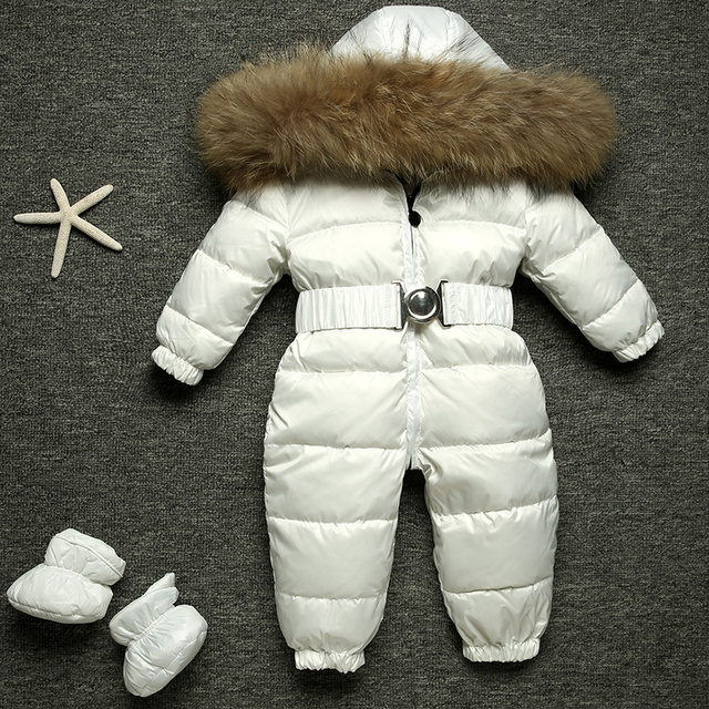 Childrens high end fashion warm conjoined down jacket
