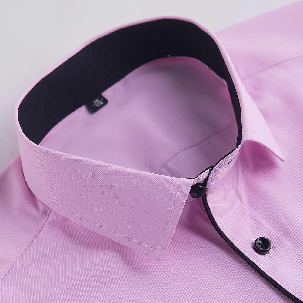 DAVYDAISY 2019 男性シャツ長袖男性カジュアルビジネスドレスシャツスリムフィット白ワークシャツ男性カミーサ masculina DS167