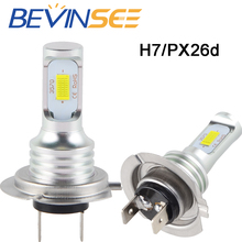 H7 Motorcycle Headlight LED Bulb Lamp 12V 100W/Pair Light For Buell Ulysses XB12X 2006 2007 2008 2009 2010 Police XB12XP