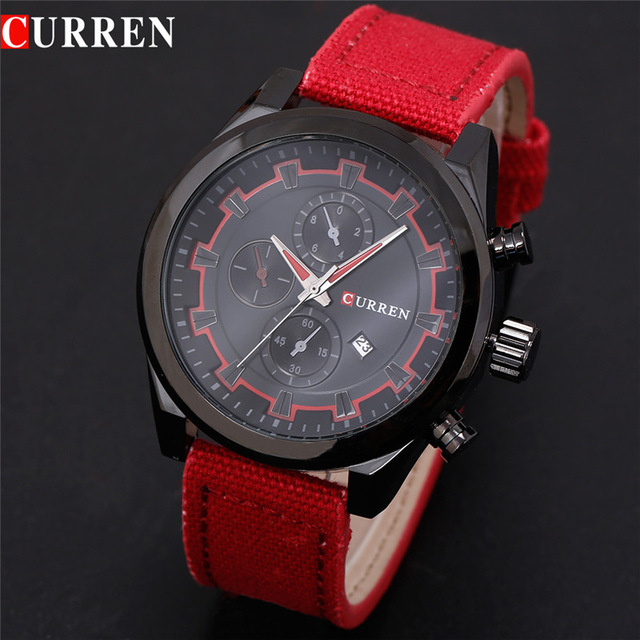 Top Brand Luxury Fashion Casual Men Watches Calendar Sports Watch Quartz Male Wristwatches Relogio Masculino CURREN 8196 new listing men watch luxury brand watches quartz clock fashion leather belts watch cheap sports wristwatch relogio male gift
