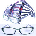 20pcs a lot  wholesale colorful 78205 injection acetate rectangle lightweight semi transparent color optical eyeglass frames