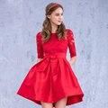 Sexy Red corto robe de Cocktail vestidos para mujeres vestidos de coctel cocktailkleider
