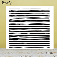 ZhuoAng Stripe Lines Clear Stamps For DIY Scrapbooking/Card Making/Album Decorative Silicon Stamp Crafts