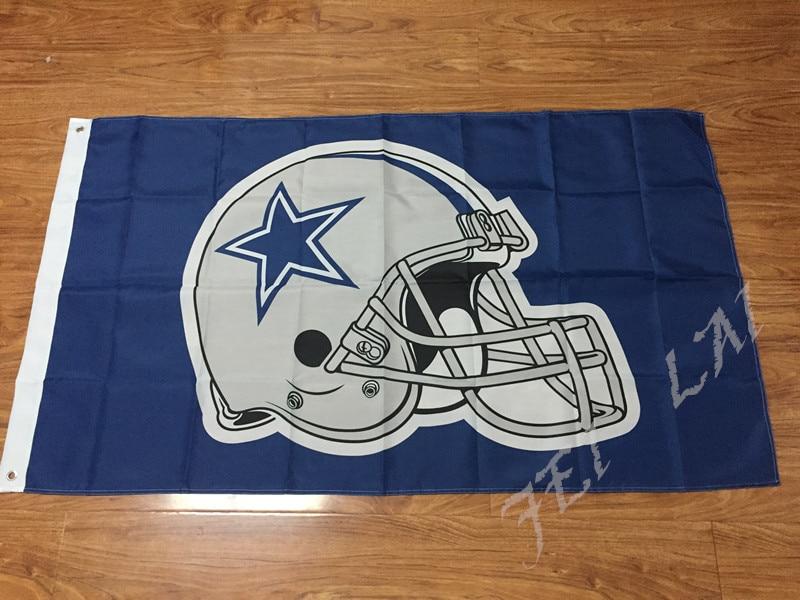 ⊹Dallas Cowboys bandera 3ft x 5ft poliéster banner 90x150 cm manga ...