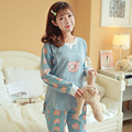 Korean Maternity Clothes Pregnancy Pajamas Nursing Clothes For Pregnant Women Casual Maternity Nursing Sleepwear Cotton 70M0196