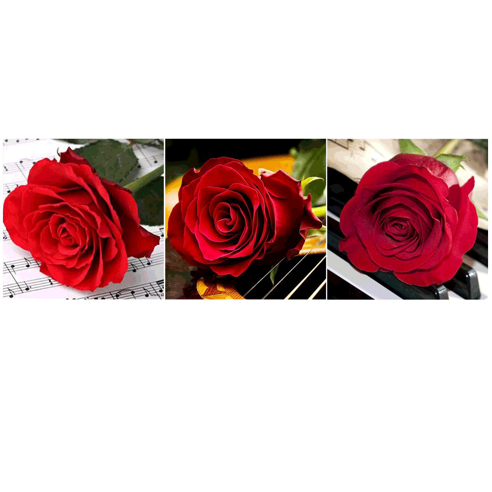 HUACAN-3pc-set-Full-Square-Diamond-Painting-Flower-Rose-Diamond-Embroidery-Sale-Pictures-Of-Rhinestone-Mosaic