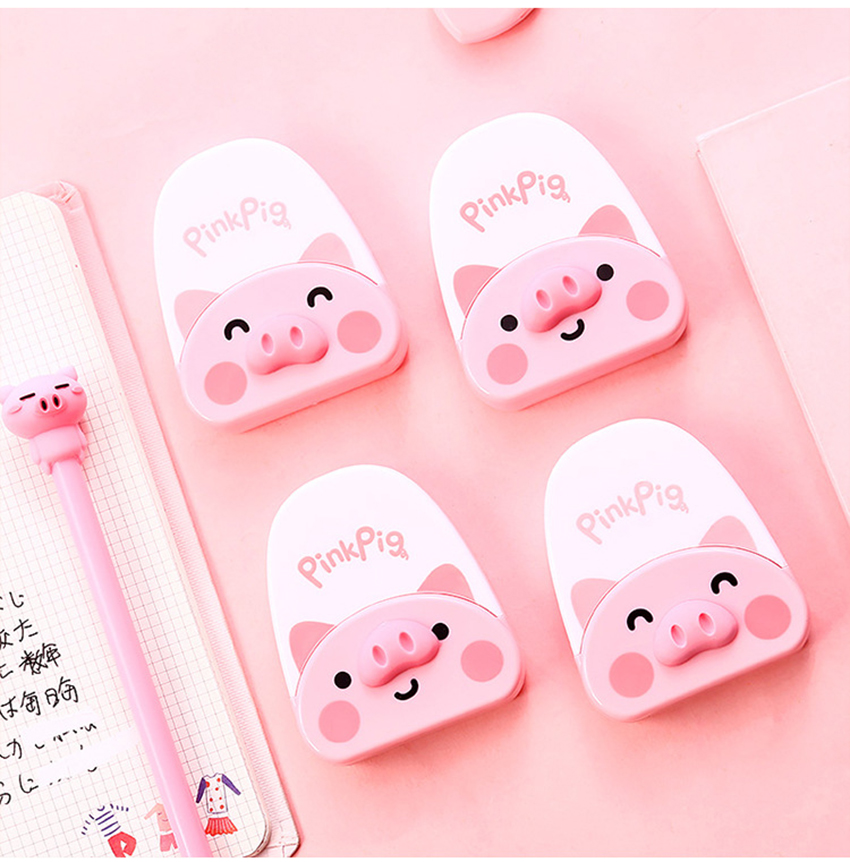 Cute Piggy Correction Tape Students Stationery Cartoon Animal Corrector Office Supplies Kids Studying Modification Gadgets