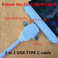 3 in 1 USB TYPE-C usb cable Appliable to usb to micro to usb cables fast charging 3m magnetic connector air max 1 one 2016