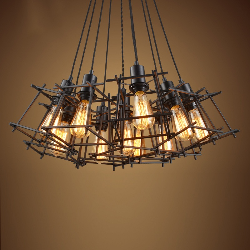 Industrial Retro Nordic Iron Frames Chandelier Lamp Lights Pendant for Home Dining Living Room Cafe Bar Decoration luminaire loft simple retro edison industrial clear glass metal pendant lamp lights for cafe bar dining room shop living room store decor