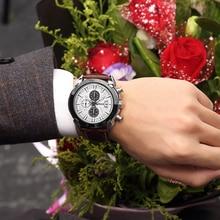 BAOGELA Quartz Watch Man Fashion Analog Hot Luxury Leather Brand Watches Men's Casual Chronograph Hour Luminous Male Wristwatch