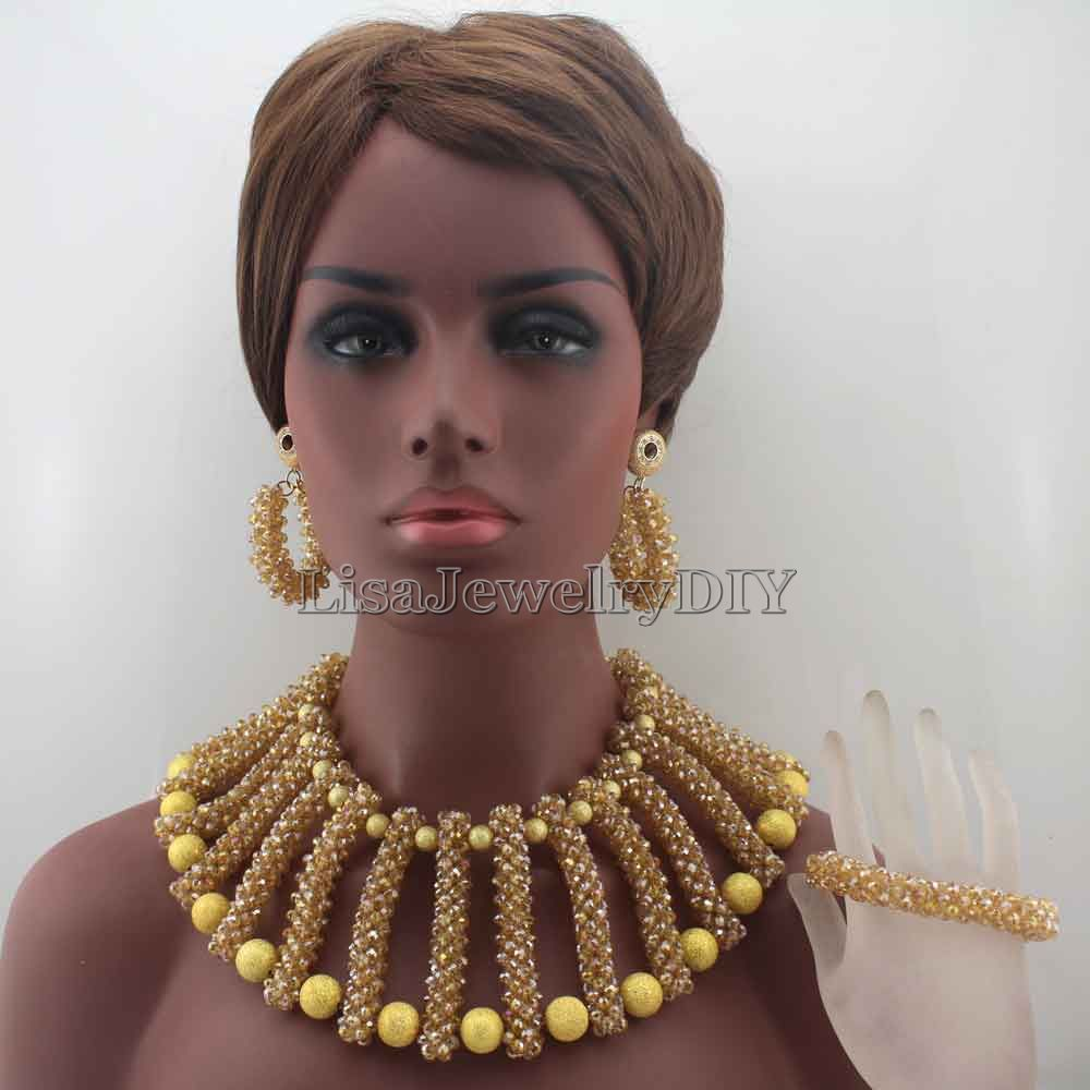 New Chunky Big  African Bride Jewelry Set Nigerian Wedding Party Beads Statement Necklace Set Free Shipping HD7860New Chunky Big  African Bride Jewelry Set Nigerian Wedding Party Beads Statement Necklace Set Free Shipping HD7860