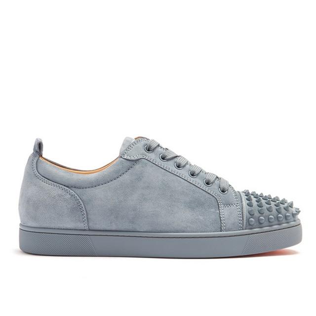 9a804458a6d9 2018 New Shoes Man Hot Brand Designer Casual Men Shoes Lace Up Men Sneakers  Round Toe Runway Rivets Superstar Shoes Men Flats
