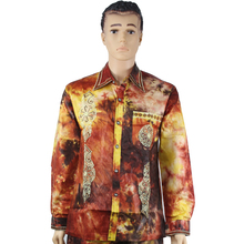 MD african clothes for men shirt male embroidery cotton tops 2019 mens clothing dashiki shirts without pant