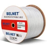 BELNET Cat6 RJ45 Ethernet Network Cable FTP 23AWG Copper 250MHz 1000Mbps Lan Cable twistd pair Pass Fluke Test 1000Ft 305M Gray