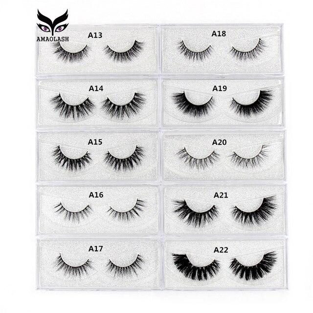 AMAOLASH Mink Eyelashes 3D Mink Lashes long lasting eyelashes natural volume cruelty free eyelash extension false eyelashes