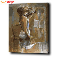 Violin Woman Diy Digital Canvas Oil Painting By Numbers Pictures Coloring By Numbers Modern Large Acrylic