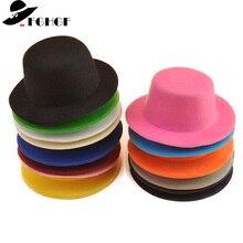 FGHGF 10 unids lote Mini sombrero superior para niños Fascinator  sombrerería sombrero Base hombre sólido 026e14e7679