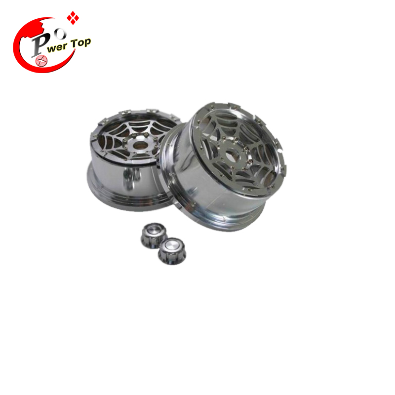 King Motor Baja Front T1000 Spider alloy wheel hub rim for HPI BAJA 5T Parts Rovan Free Shipping king motor baja alloy roto start pull starter for hpi baja 5b parts free shipping