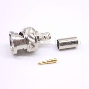 JX оптовая продажа BNC дешевый 100 шт RF разъем BNC обжимной разъем для RG58 кабель BNC мужской из трех частей 100 Набор Бесплатная доставка