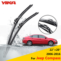 YIKA Car Windshield Rubber Wipers Glass Windscreen Wiper Blades For Jeep Compass 22 20 Fit Hook