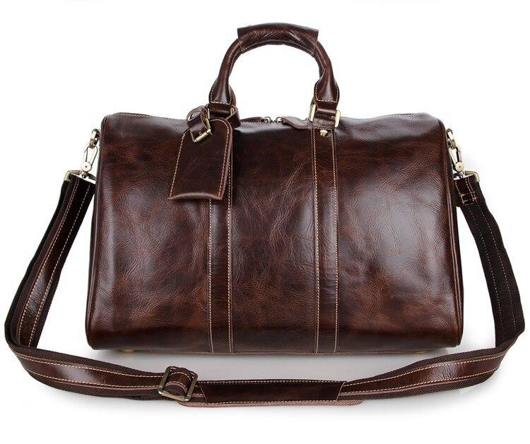 Bagaj ve Çantalar'ten Seyahat Çantaları'de Yüksek kalite vintage hakiki deri seyahat bagaj çantası deri seyahat çantası büyük kapasiteli bagaj çanta parlak haftasonu çanta'da  Grup 3