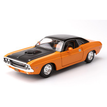 1:24 Simulation Diecast Alloy Sports Car Model Toys For Dodge Challenger 1970 With Steering Wheel Control Original Box